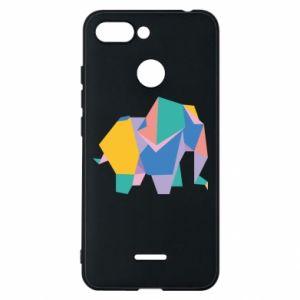 Phone case for Xiaomi Redmi 6 Bright elephant abstraction - PrintSalon