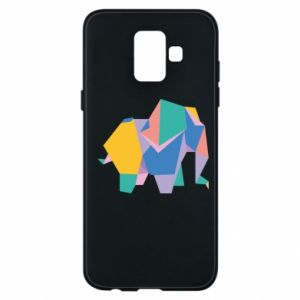 Phone case for Samsung A6 2018 Bright elephant abstraction - PrintSalon