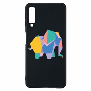 Phone case for Samsung A7 2018 Bright elephant abstraction - PrintSalon