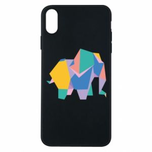 Etui na iPhone Xs Max Bright elephant abstraction