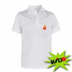 Children's Polo shirts Bright flame - PrintSalon