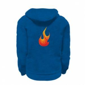 Bluza na zamek dziecięca Bright flame