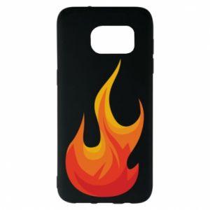 Etui na Samsung S7 EDGE Bright flame