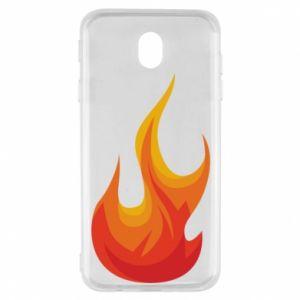 Etui na Samsung J7 2017 Bright flame