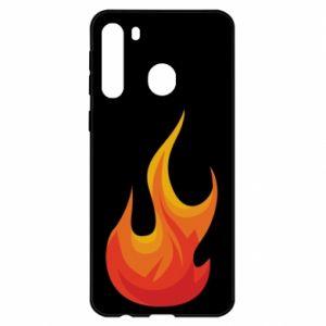 Etui na Samsung A21 Bright flame