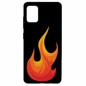 Etui na Samsung A51 Bright flame