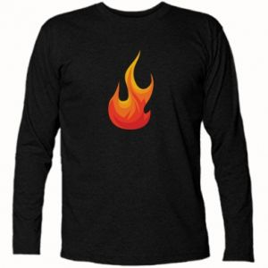 Long Sleeve T-shirt Bright flame - PrintSalon