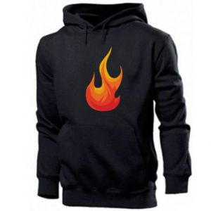 Men's hoodie Bright flame - PrintSalon