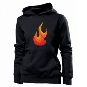 Women's hoodies Bright flame - PrintSalon