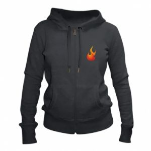Women's zip up hoodies Bright flame - PrintSalon