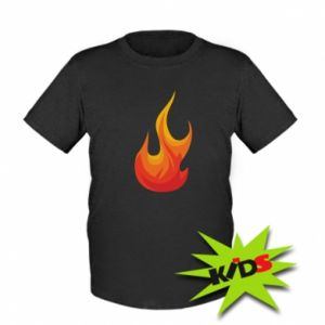 Kids T-shirt Bright flame - PrintSalon