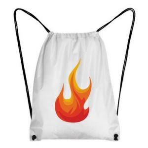 Backpack-bag Bright flame - PrintSalon