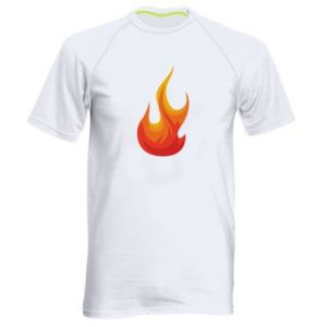 Men's sports t-shirt Bright flame - PrintSalon