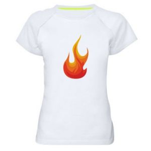 Women's sports t-shirt Bright flame - PrintSalon