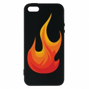 Phone case for iPhone 5/5S/SE Bright flame - PrintSalon