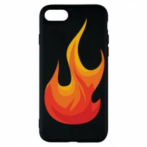 Phone case for iPhone 7 Bright flame - PrintSalon