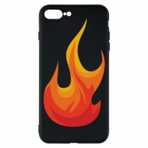 Phone case for iPhone 7 Plus Bright flame - PrintSalon