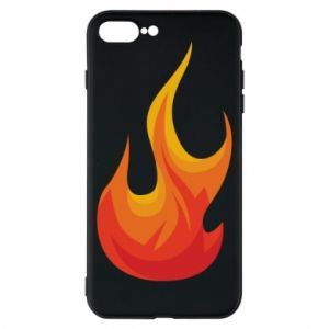 Phone case for iPhone 8 Plus Bright flame - PrintSalon