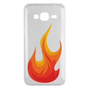 Phone case for Samsung J3 2016 Bright flame - PrintSalon