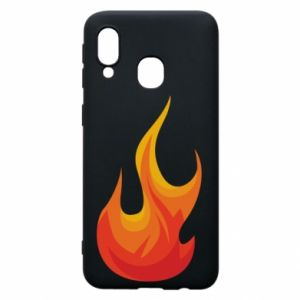 Phone case for Samsung A40 Bright flame - PrintSalon