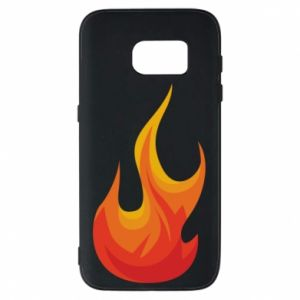 Phone case for Samsung S7 Bright flame - PrintSalon