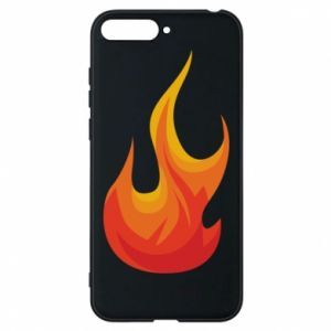 Phone case for Huawei Y6 2018 Bright flame - PrintSalon