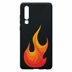 Phone case for Huawei P30 Bright flame - PrintSalon