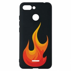 Phone case for Xiaomi Redmi 6 Bright flame - PrintSalon