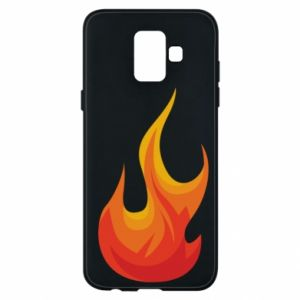 Phone case for Samsung A6 2018 Bright flame - PrintSalon