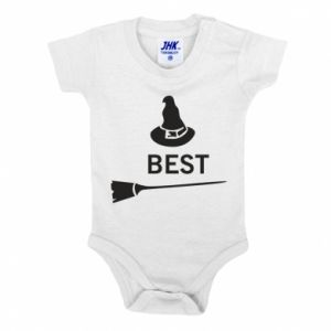 Baby bodysuit Broom and hat Best - PrintSalon