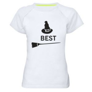 Women's sports t-shirt Broom and hat Best - PrintSalon