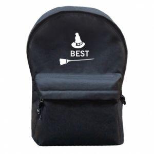 Backpack with front pocket Broom and hat Best - PrintSalon