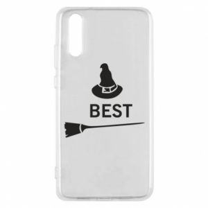Phone case for Huawei P20 Broom and hat Best - PrintSalon