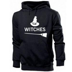 Men's hoodie Broom and hat Witches - PrintSalon