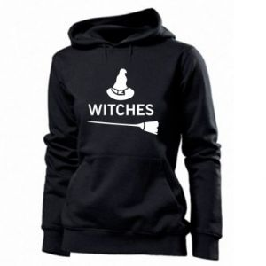 Women's hoodies Broom and hat Witches - PrintSalon