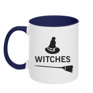 Two-toned mug Broom and hat Witches - PrintSalon
