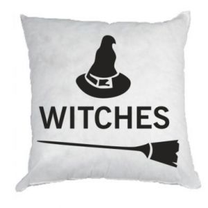 Pillow Broom and hat Witches - PrintSalon