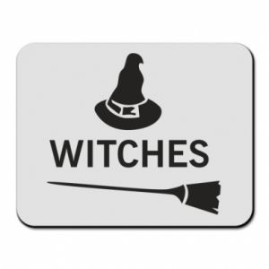 Mouse pad Broom and hat Witches - PrintSalon