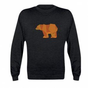 Bluza dziecięca Brown bear abstraction