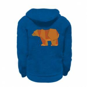 Bluza na zamek dziecięca Brown bear abstraction