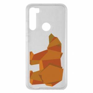 Etui na Xiaomi Redmi Note 8 Brown bear abstraction