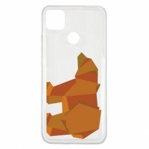 Etui na Xiaomi Redmi 9c Brown bear abstraction
