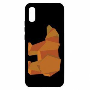 Etui na Xiaomi Redmi 9a Brown bear abstraction