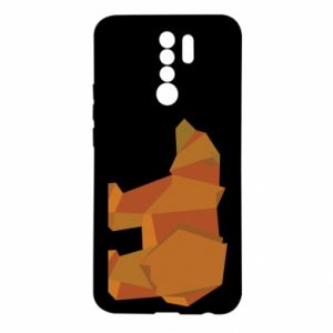 Etui na Xiaomi Redmi 9 Brown bear abstraction