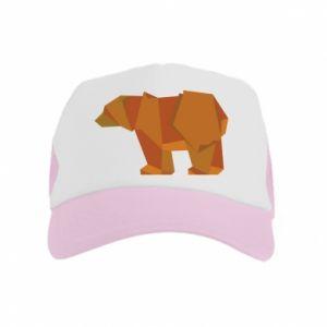Czapka trucker dziecięca Brown bear abstraction