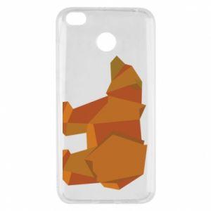 Etui na Xiaomi Redmi 4X Brown bear abstraction