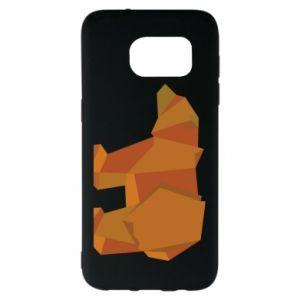 Etui na Samsung S7 EDGE Brown bear abstraction