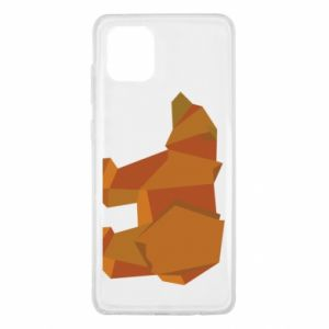 Etui na Samsung Note 10 Lite Brown bear abstraction