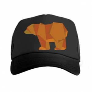 Czapka trucker Brown bear abstraction