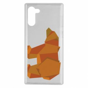 Etui na Samsung Note 10 Brown bear abstraction